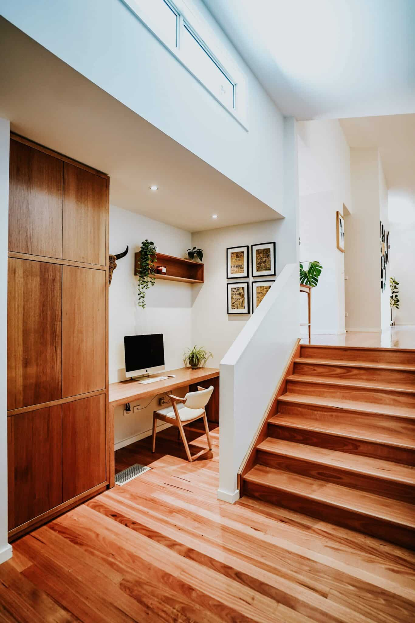 Locspec Building Oak Flats Renovation - stairs and desk space